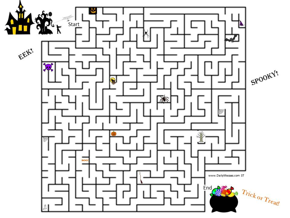 Daily Messes: Halloween Maze