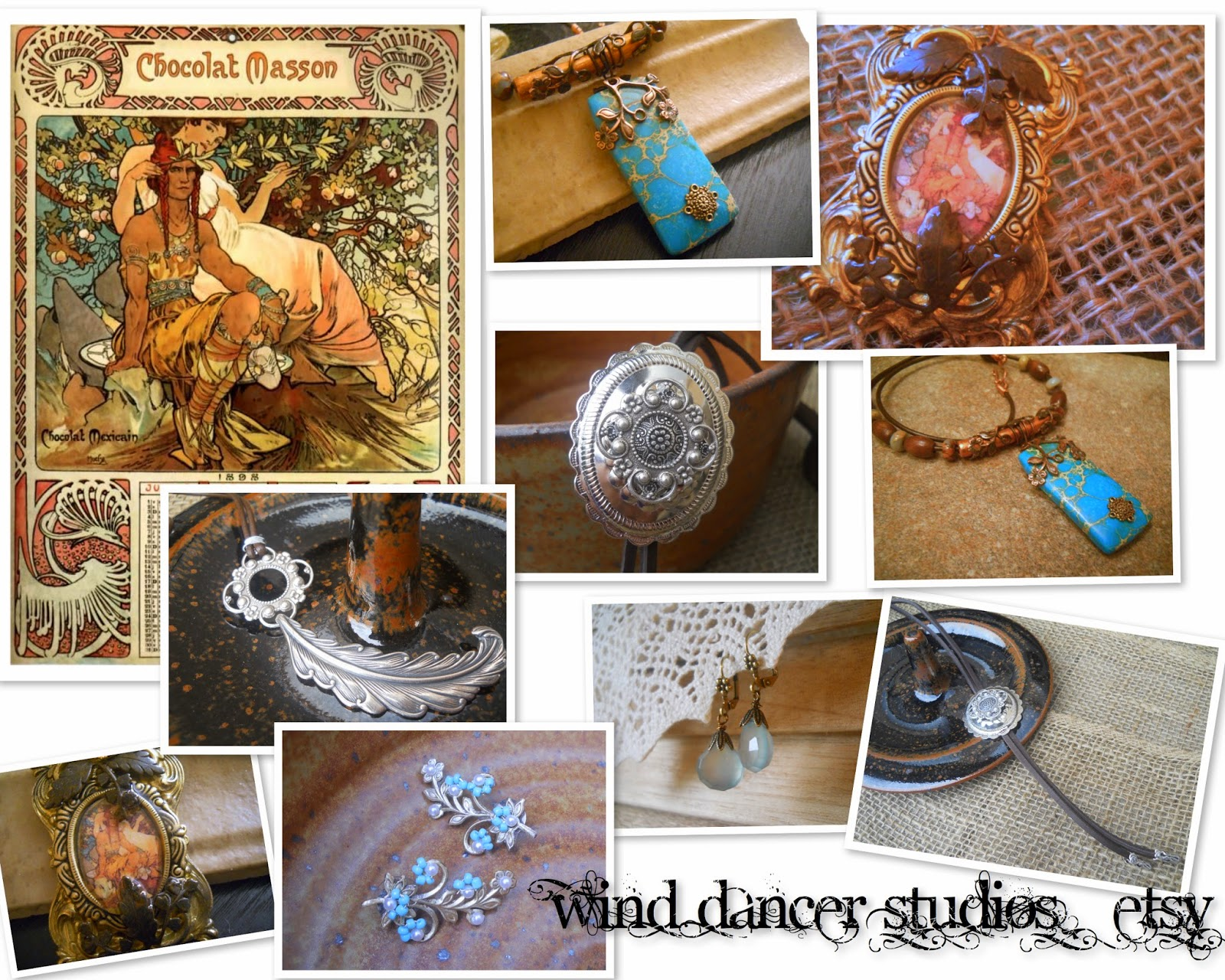 mucha's musings: Chocolate Collection, hand crafted jewelry by Wind Dancer Studios on Etsy