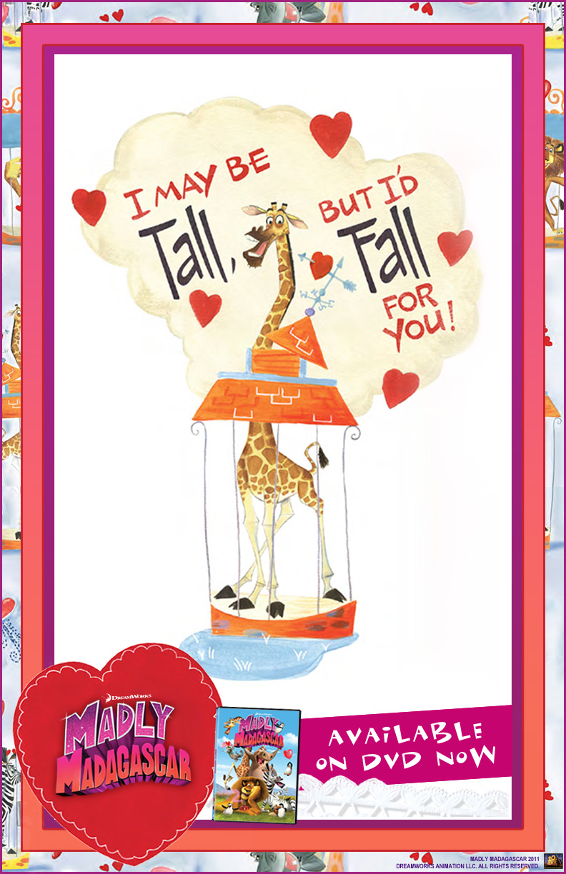 Free Madly Madagascar Valentines Day E Card Frugal Mom Eh