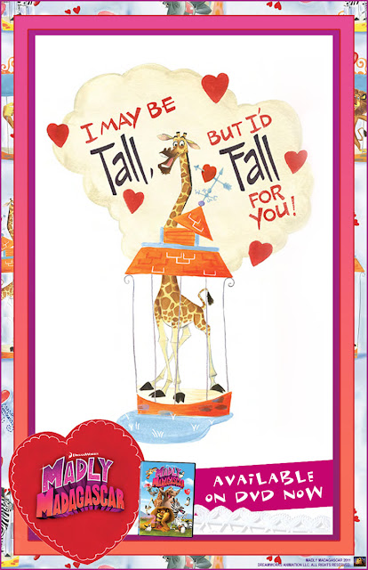 Free Madly Madagascar Valentine's Day E-Card