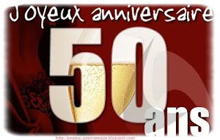 Poème anniversaire 50 ans