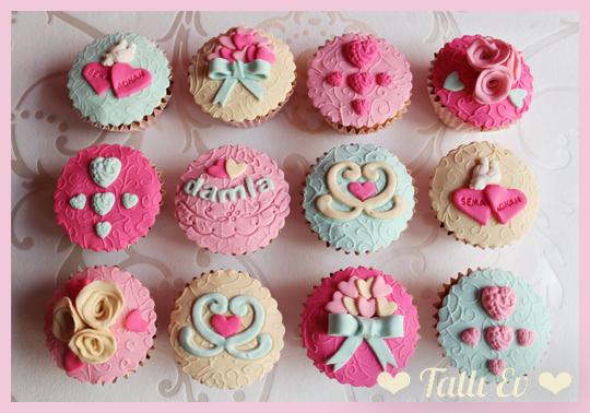 hediye cupcake seti