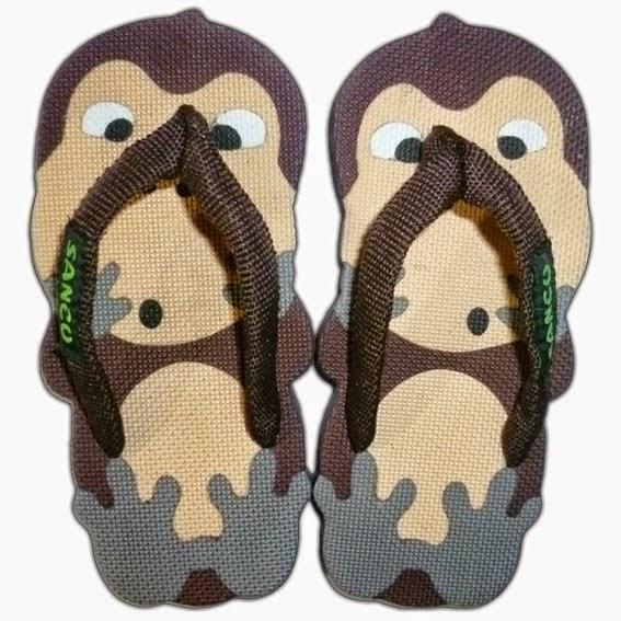 Motif Sandal Sancu Monkey