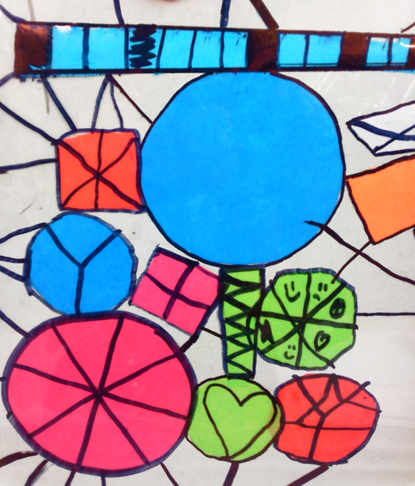 tissue paper stained glass These 25 stained glass crafts for kids are a beautiful way to  tissue paper  makes this stained glass pumpkin look less scary and more just.
