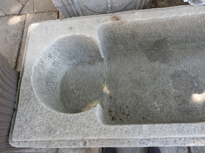 Shape of stone sarcophagus carving, place for head, with some pillow kind