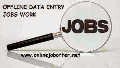 Offline Data Entry Work From Home Without Investment