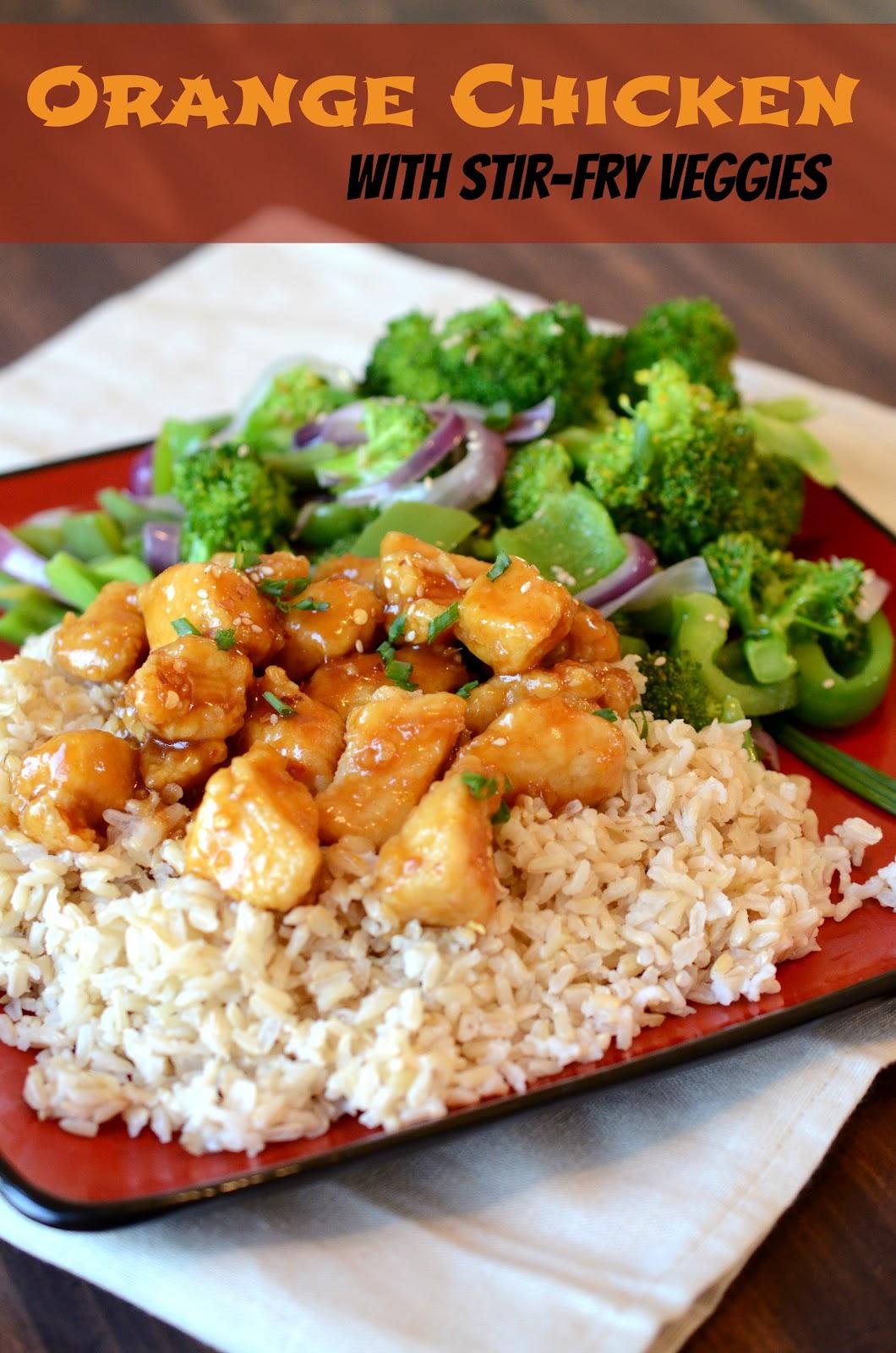 Orange chicken with white rice recipe