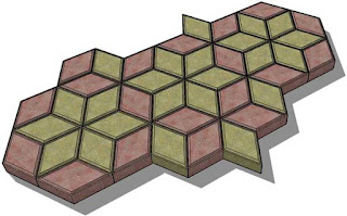 Paving model bentuk diamond
