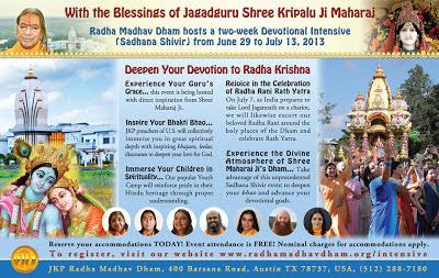 News on Vrindavan Preachers of Kripalu Maharaj at Barsana Dham ashram