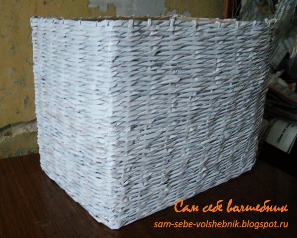 Плетеная корзина для хранения вещей. 73591