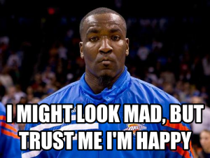 kendrick perkins facial expression