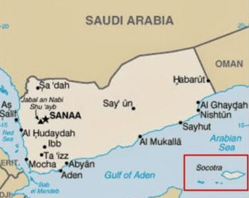Peta Pulau Socotra