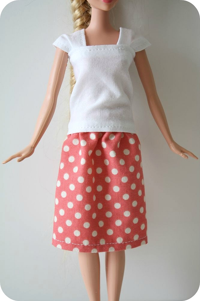 Как сшить юбку для кукол барби своими руками