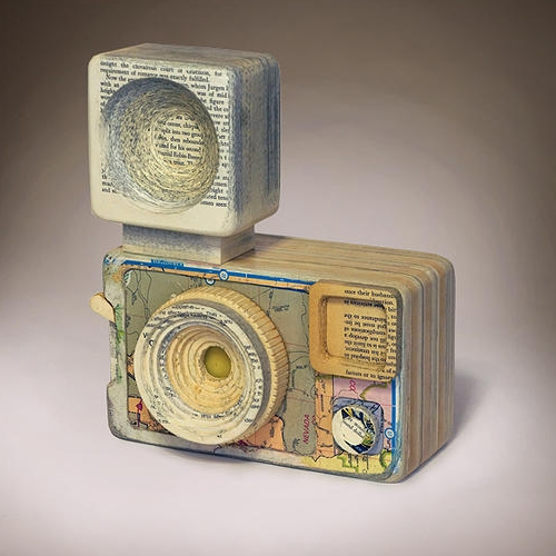 03-Argus-127-Ching-Ching-Cheng-Vintage-Camera-Sculptures-Made-of-Books-and-Maps-www-designstack-co