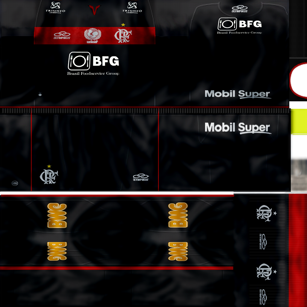 Link Download Kit Flamengo 2012 / 2013 by Kleber12 - PES 6 :