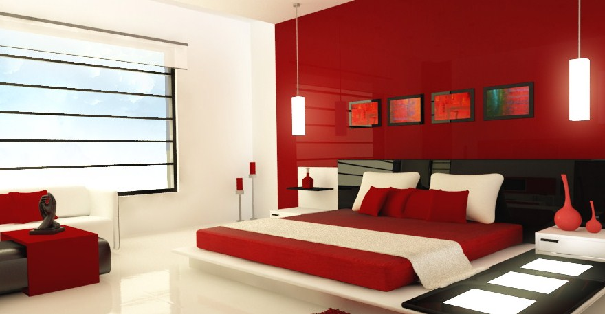 Warna Merah Untuk Interior