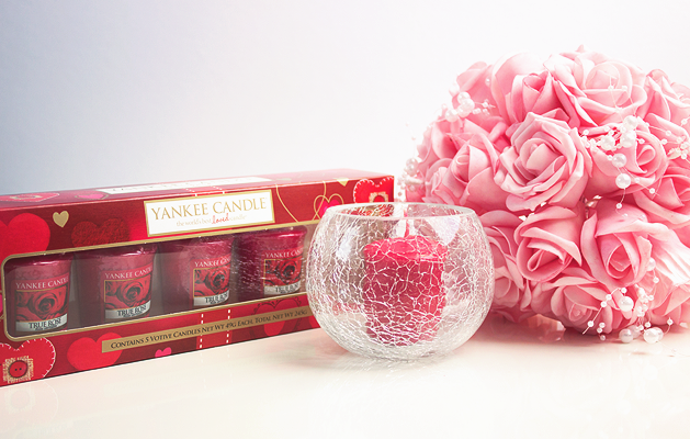 Yankee Candle True Rose Classic 5 Votives Gift Set, Yankee Candles