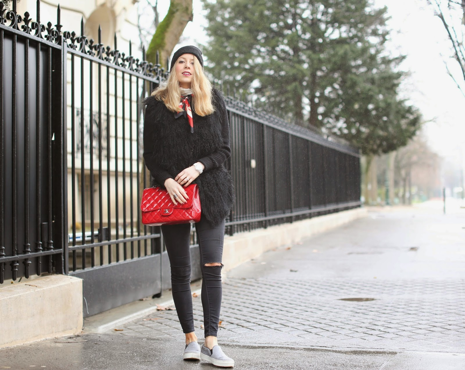 parisian, day to night, louboutin, céline, chanel, topshop, fur, zadig et voltaire, fashion blogger, streetstyle