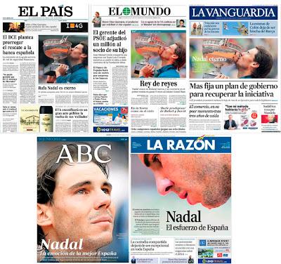 El País, El Mundo, La Vanguardia, La Razón, ABC