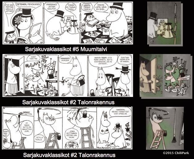 Moomin mug, Drawing