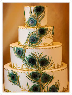 Peacock Wedding Cake Images