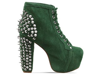 Jeffrey Campbell Lita Spike in Green Suede