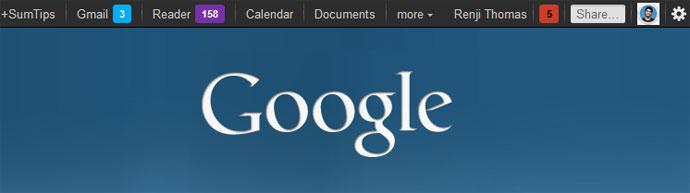 Customized Google Navigation Bar