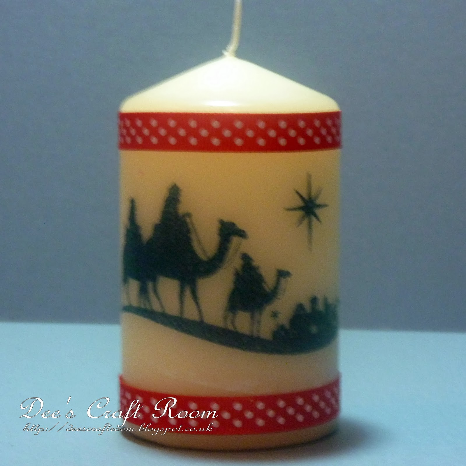Dee 39 s craft room three wise men candle for Stampin pretty craft room