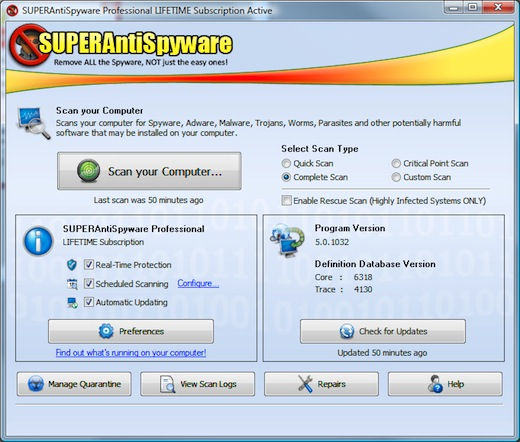 SUPERAntiSpyware.Professional.v5.0.1134.Multilingual.Incl.Keymaker-CORE