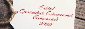 Edital de Gratuidade 2020