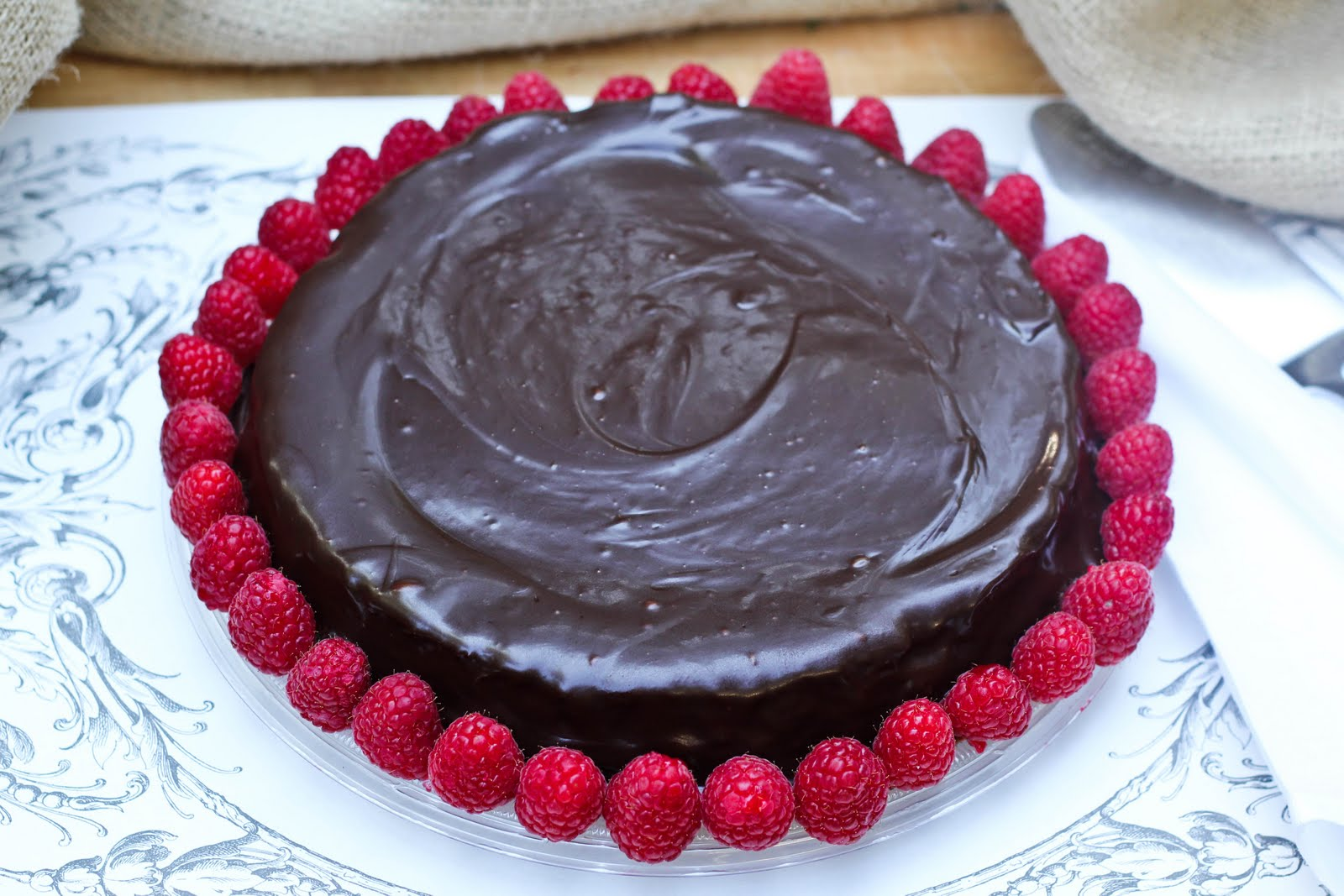 Flourless Chocolate Cake with Ganache Topping …adapted from Bon ...