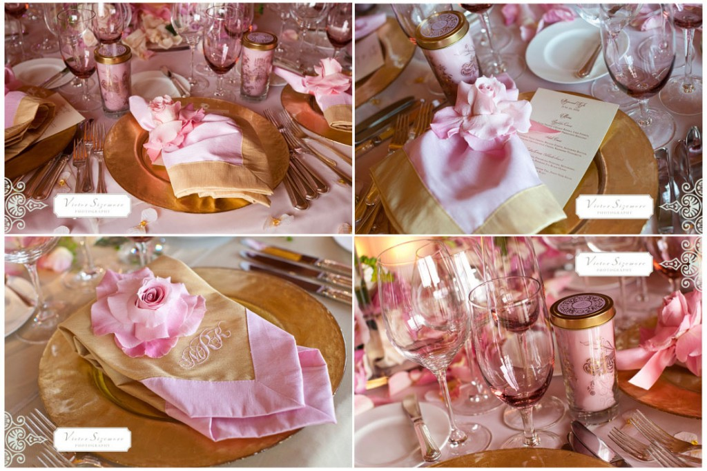 Light pink and gold wedding theme