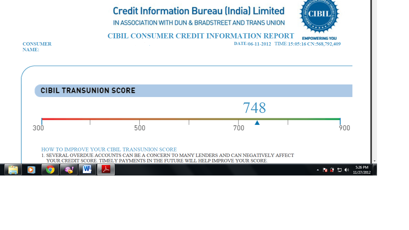 Format of cibil credit report credit reports reporting for Bureau report