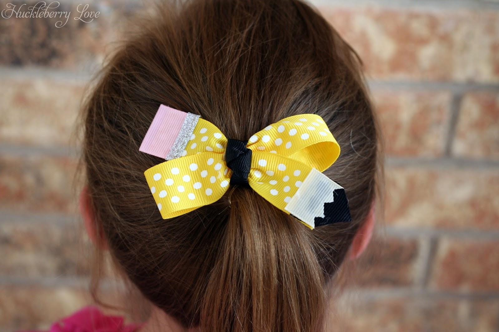 Pencil Hair Bow