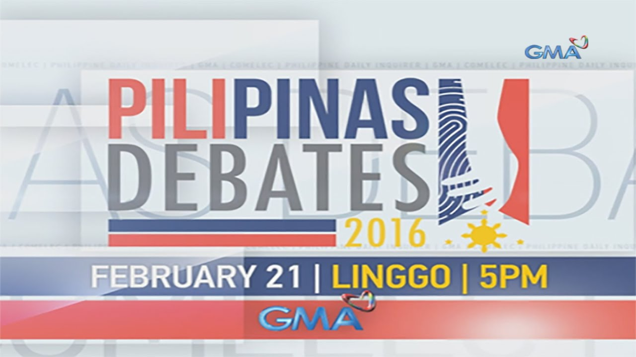 Pilipinas Debate 2016 March 20 2016