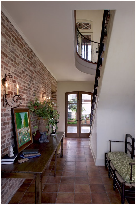 d coration int rieure avec des murs en briques d cor de maison d coration chambre. Black Bedroom Furniture Sets. Home Design Ideas