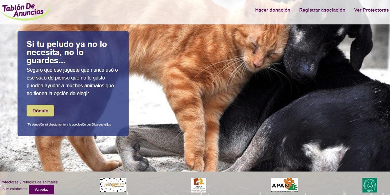 TABLON DE AUNCIOS. DONACIONES A REFUGIOS Y PROTECTORAS.