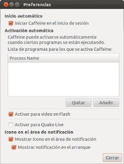 Instalar Caffeine en Ubuntu