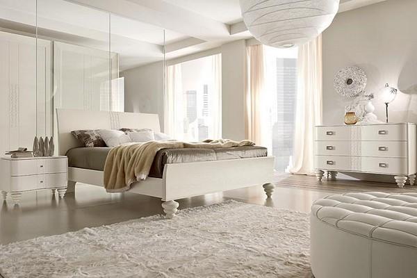 Decoracion Habitaciones Blancas ~ En este dormitorio matrimonial vemos como la luz adquiere un esplendor