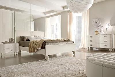 habitación matrimonial blanca