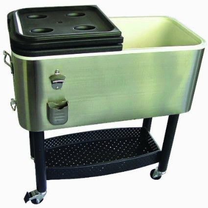 Crestware 68 Quart Stainless Steel Patio Cooler
