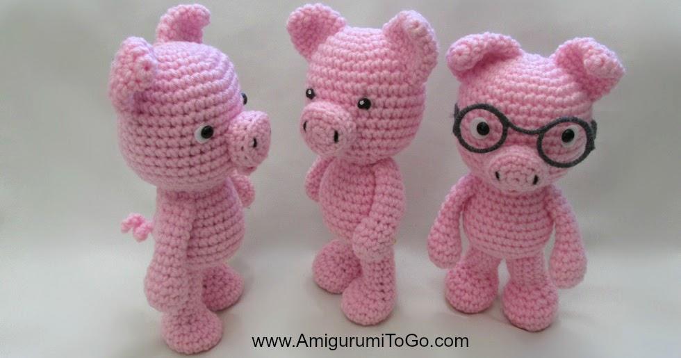 Amigurumi To Go Crochet Along Pig : Little Bigfoot Piggy 2014 With Video ~ Amigurumi To Go