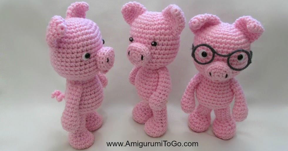Amigurumi To Go Bigfoot Bunny : Amigurumi To Go: Little Bigfoot Piggy 2014 With Video