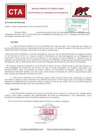 Informamos al Comité de Empresa del escrito remitido a la Inspección de Trabajo con informaciones r