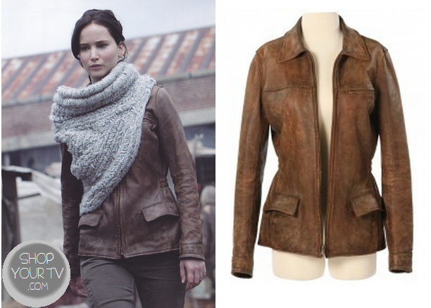 Catching Fire: Katniss' Brown Leather Jacket