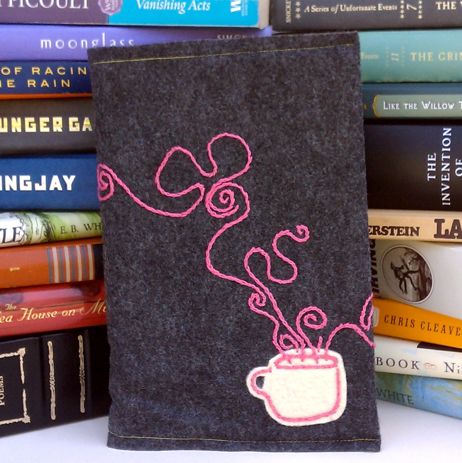 Book Cover Watercolor Yarn : Old yarn girls felt book covers from