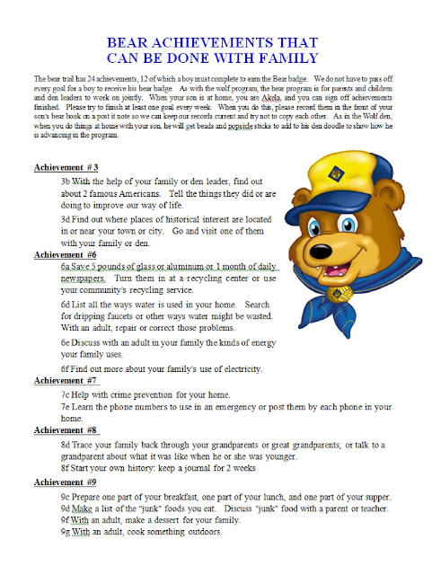 Légend image with cub scout printable