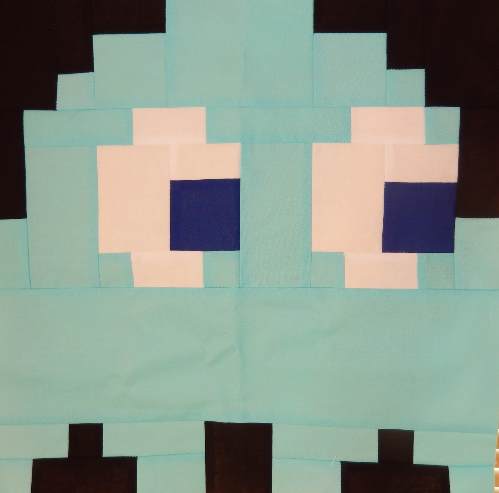 Inky Pac Man Ghost Quilt Block by Afton Warrick @ Quilting Mod