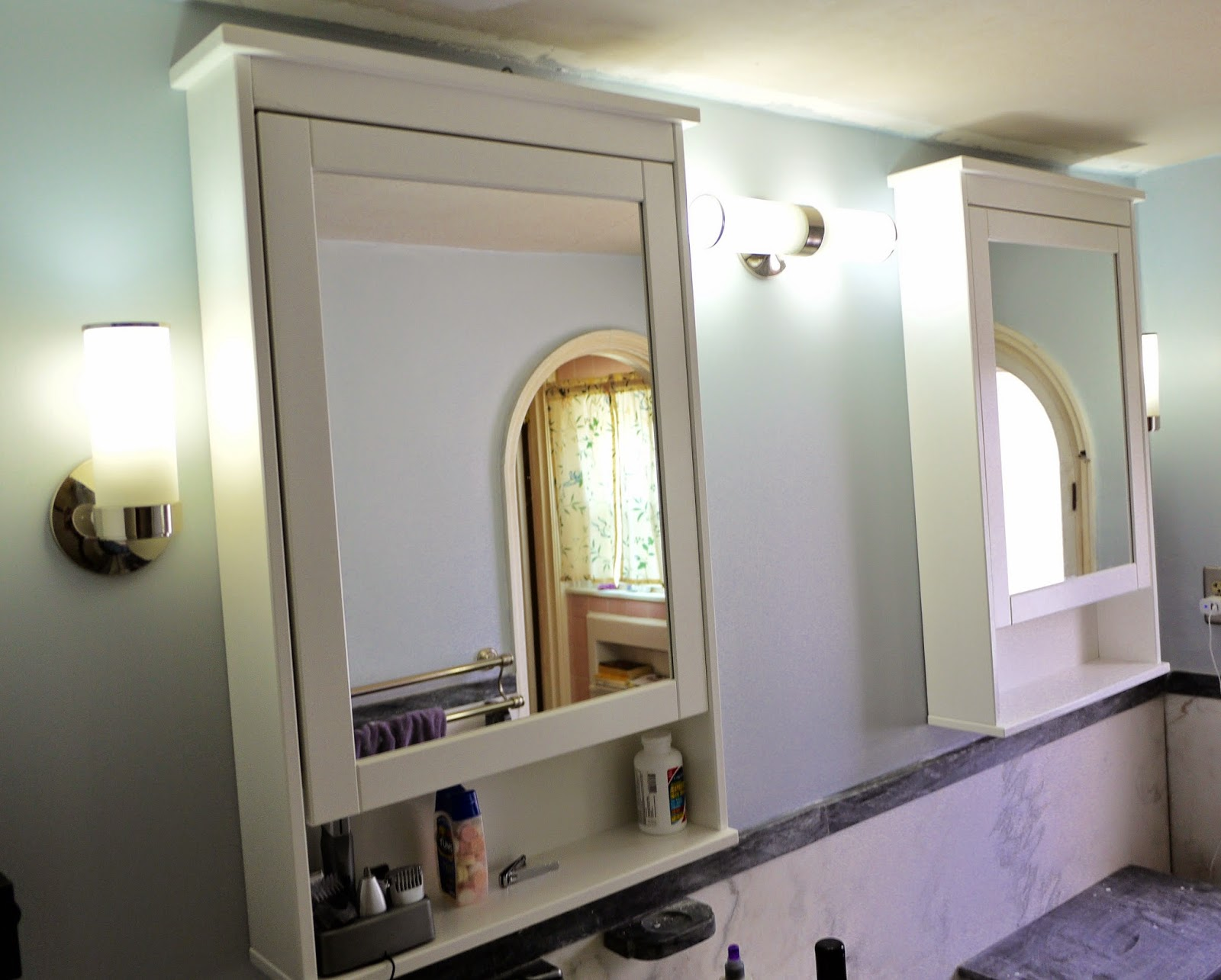 Budget Bathroom Renovation Part 1a: Medicine Cabinets And Mirrors:  Destruction
