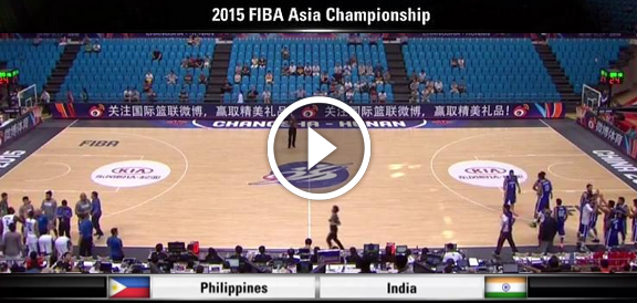 Fiba Asia 2015: Gilas Pilipinas def. India, 99-65 (REPLAY VIDEO)